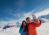 The Helicopter Line Tekapo - Snow Selfie Couple