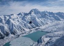 The Helicopter Line Mount Cook - Soaring above the snow covered valley