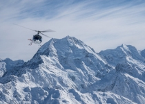 The Helicopter Line Mount Cook - A close up of Mount Cook