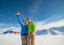 The Helicopter Line Mount Cook - Selfie
