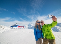 The Helicopter Line Tekapo - Snow Selfie