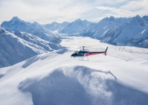 The Helicopter Line Mount Cook - Snow Landing