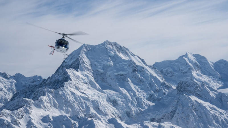 The Helicopter Line Mount Cook Scenic Flight Over Mountains