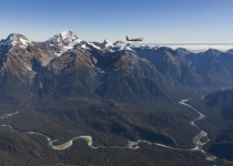 Scenic Flight through the Southern Alps.