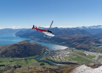 Soaring over Queenstown, Frankton and Lake Wakatipu