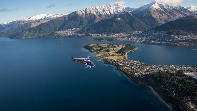 The Helicopter Line Queenstown Frankton and Lake Wakatipu