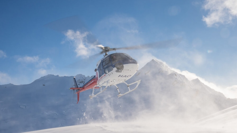 The Helicopter Line Queenstown Winter Snow Landing