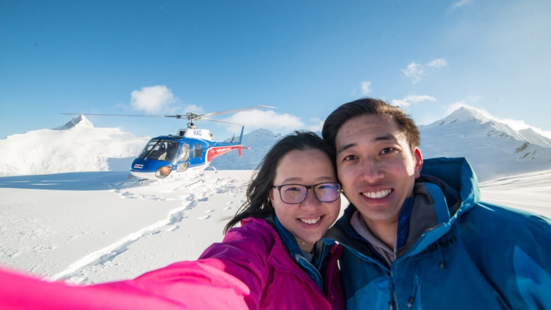 The Helicopter Line Queenstown Glacier Selfie