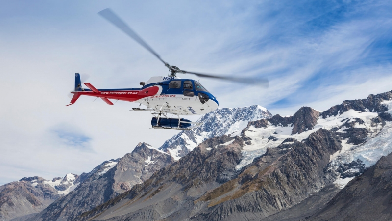 The Helicopter Line Tasman Glacier Heli Hike Scenic Chopper Flight Through New Zealand Mountains
