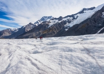 The Helicopter Line - Tasman Glacier Heli Hike - Walking on the glacier
