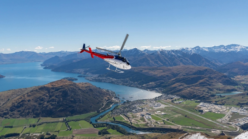 The Helicopter Line Charters Flying Over Queenstown