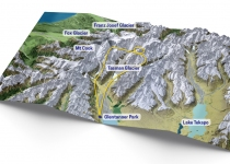 The Helicopter Line Mount Cook - Flight Map