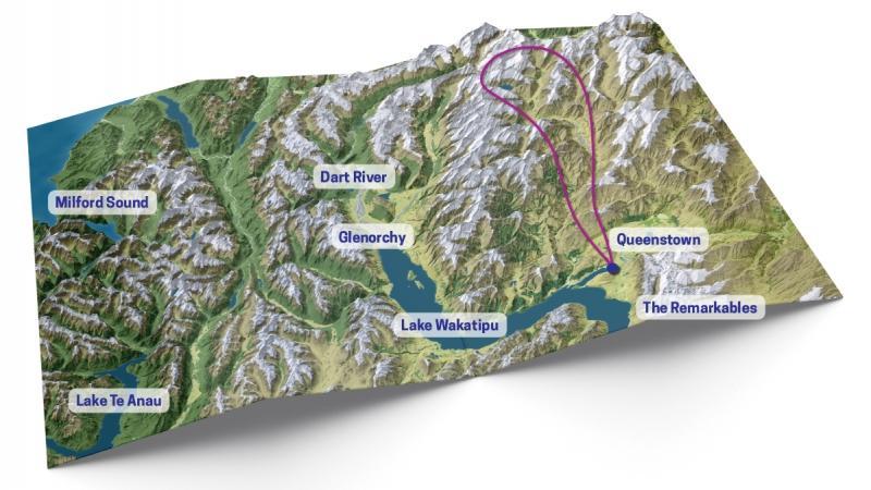 QT Southern Glacier Experience map